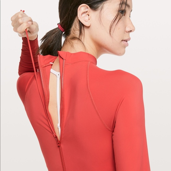 Lululemon Will The Wave One Piece - Poppy Coral